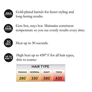 HOT TOOLS Signature Series Gold Curling Iron