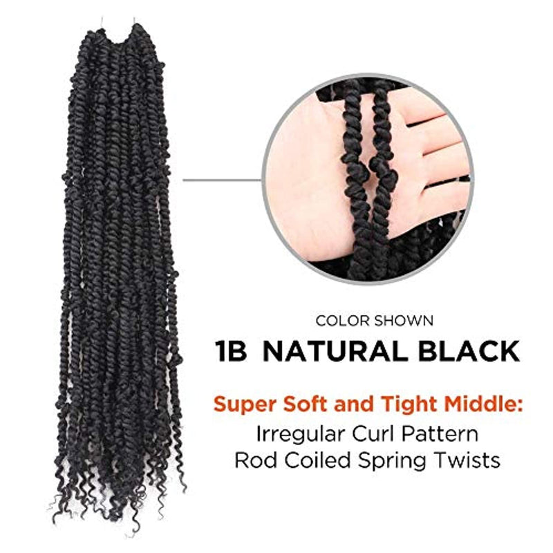 18 Inch 6 Packs Nomadic Twist Crochet Hair Synthetic