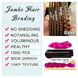 Ombre Colors Braiding Hair  Kanekalon 5Pcs