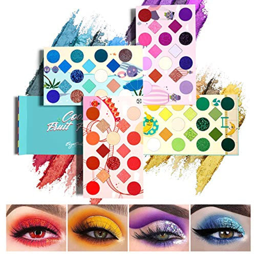 64 Colors Eyeshadow Palette Colorful Rainbow - Neshaí Fashion & More