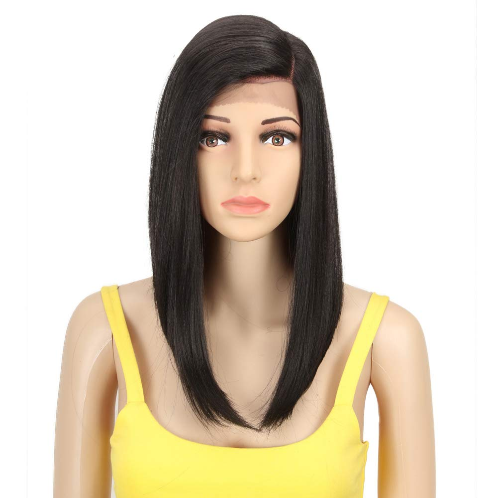 QVR Straight Blunt Bob Lace Front Wigs