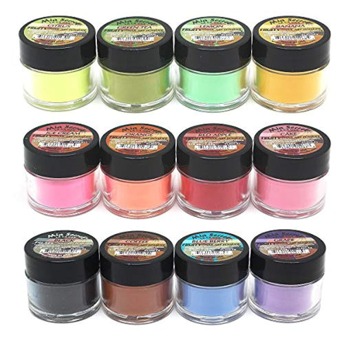 Fruity Collection Nail Acrylic Powder set of 12 - Neshaí Fashion & More