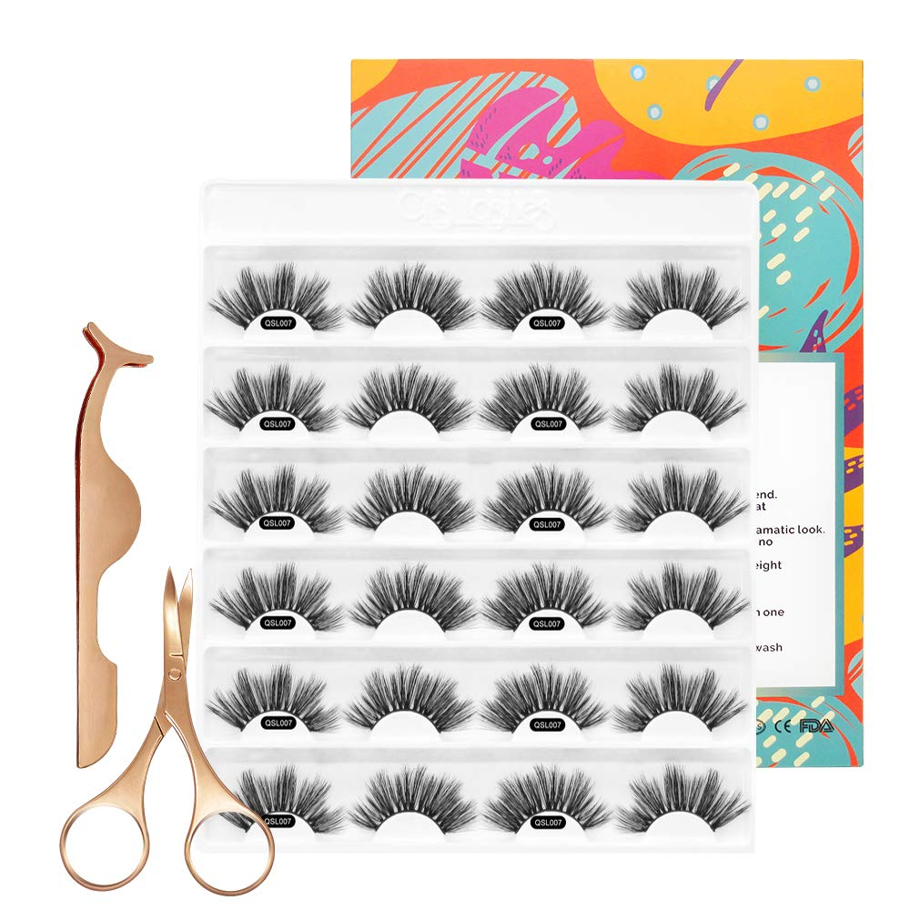 3D Mink Lashes 25mm Volume Falese Eyelashes Multi-layered
