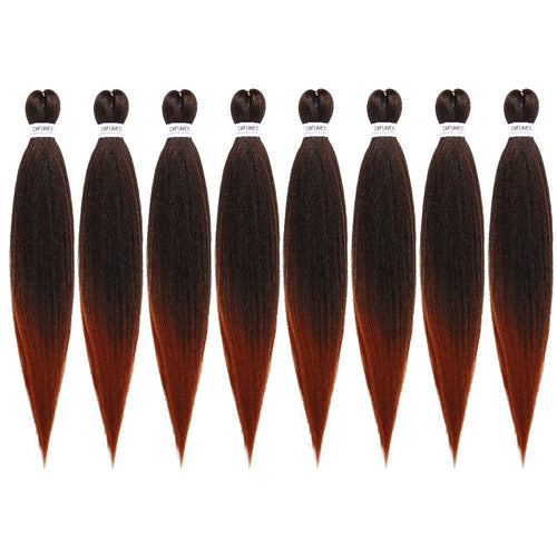 Pre-Stretched Braiding Hair Extensions Black - 24 inch 8 Packs Synthetic - Neshaí Fashion & More