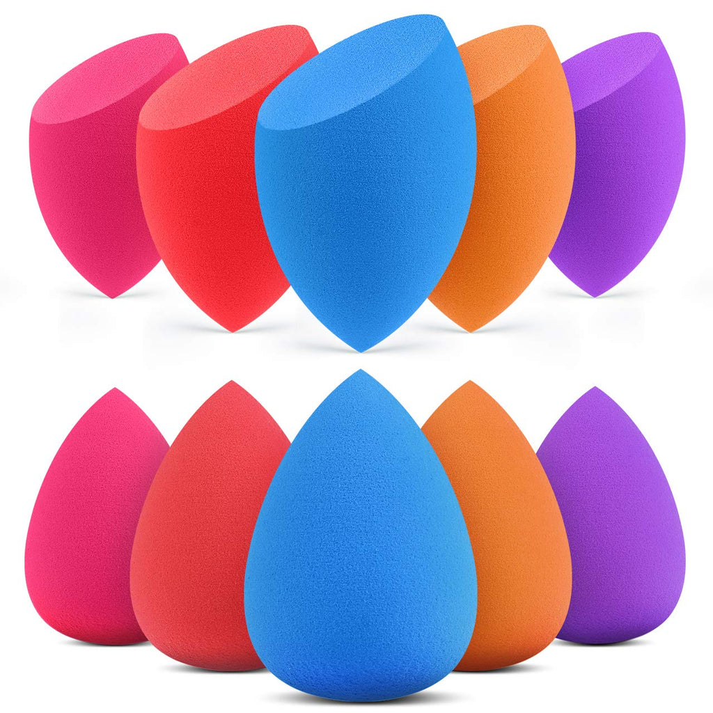 10 Pcs Makeup Sponges Blender Set