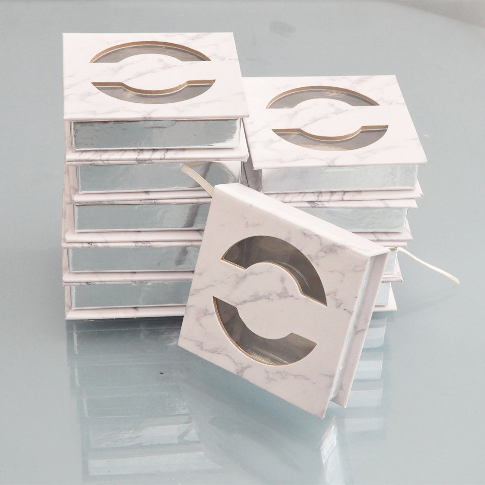 100pcs customized your Private Logo Fake marble square case Empty
