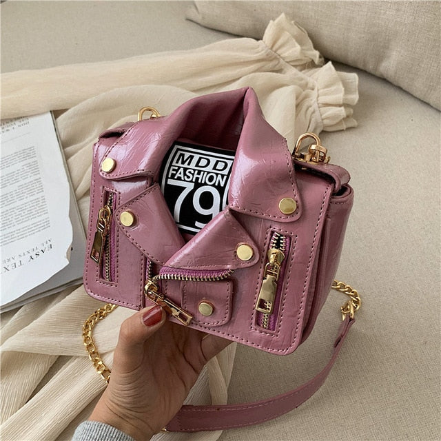 Luxury Jacket  Messenger Bag PU Leather - Neshaí Fashion & More