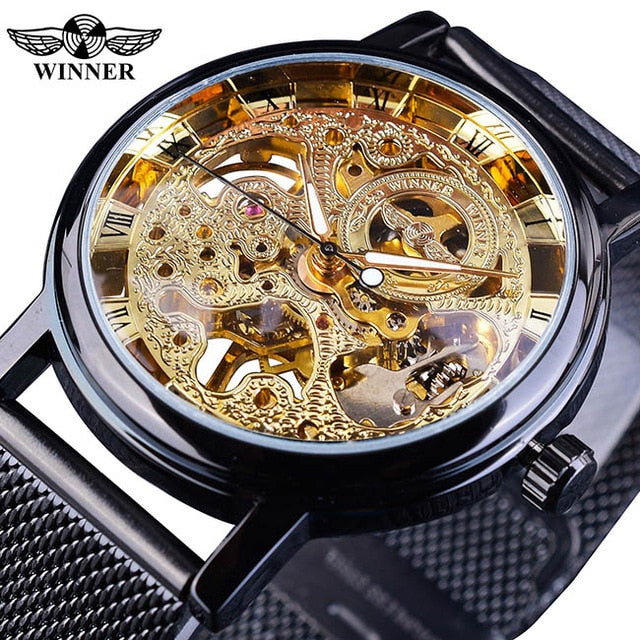 Transparent Classic Thin Case Hollow Skeleton watch