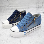 Fashion Women Sneakers Denim  Lace Up Ladies Basket femme Stars tenis feminino