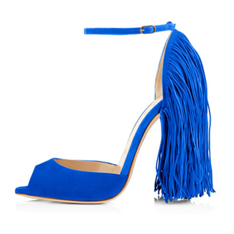 Tassel fringe Open toe sandals