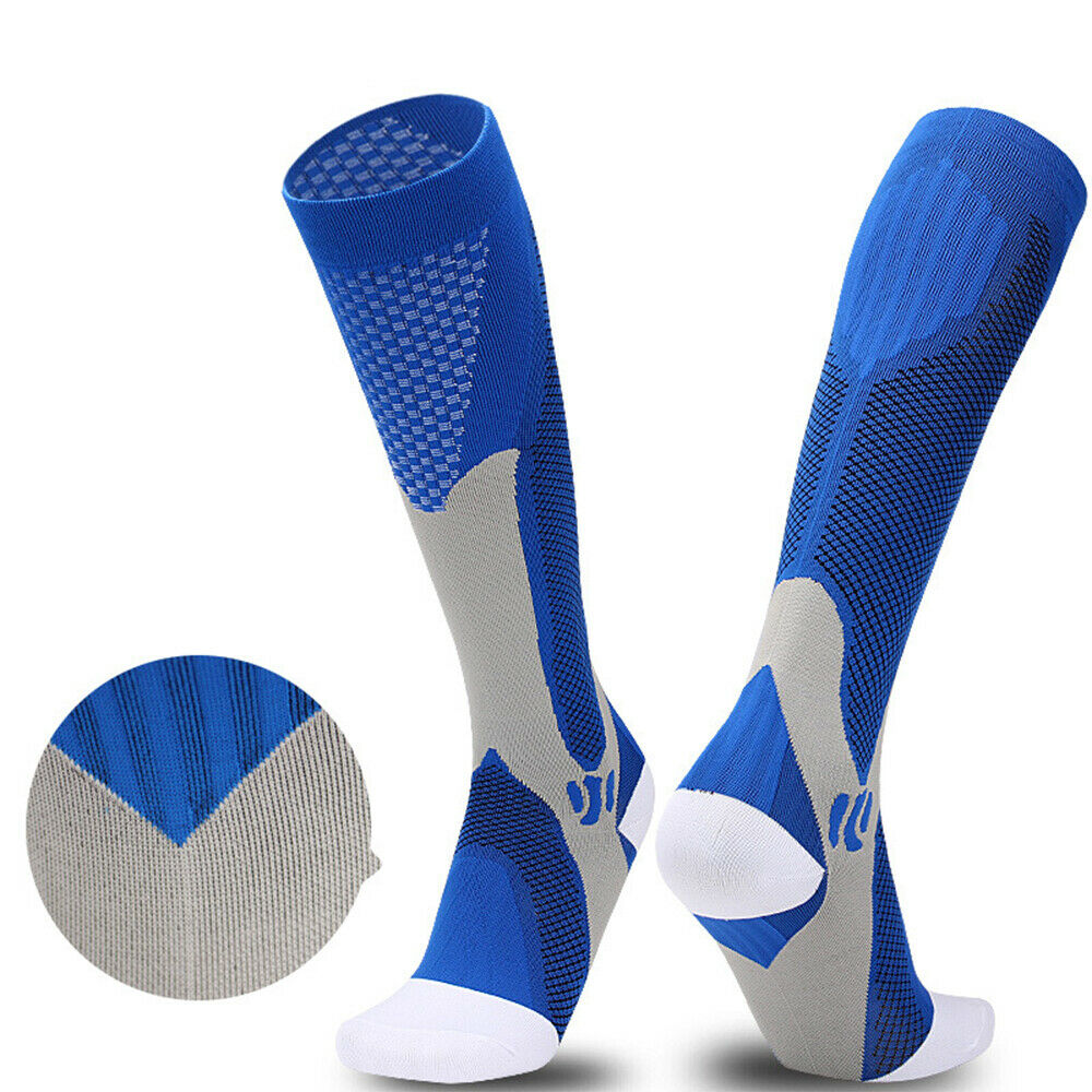Unisex 1Pair Cotton Running Sport Socks Compression Cycling Football Basketball Men Women Knee High Breathable Basketball Hiking