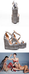 Platform Sandals with Chain Rivets Sandalias - Neshaí Fashion & More