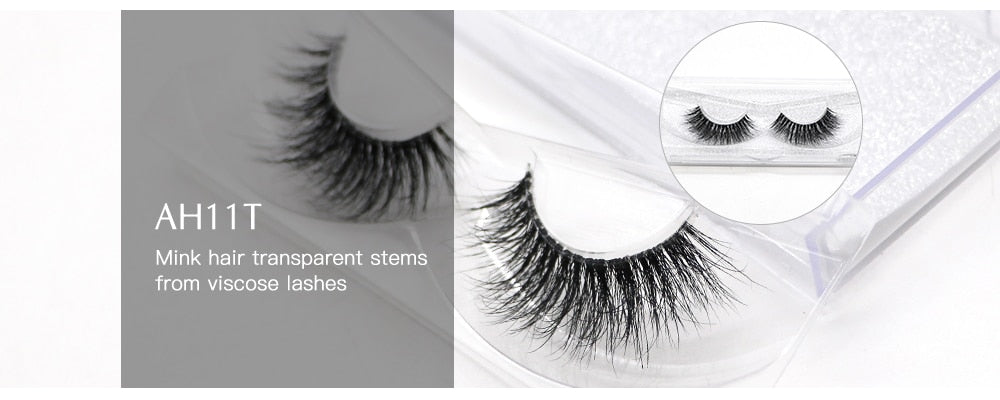 25mm Long Natural False Eyelashes Thick Faux Mink