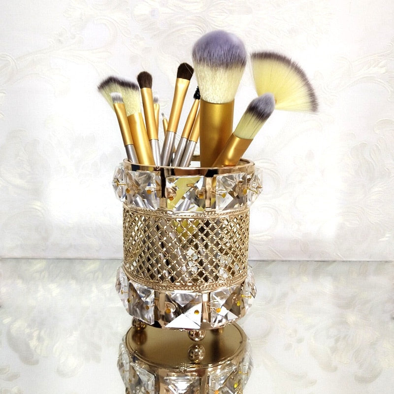European Metal Crystal makeup Organizer