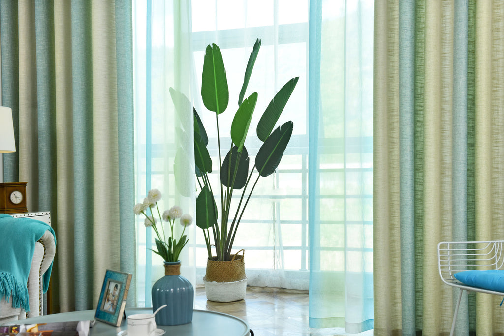 Simple Modern Curtains Fabric pleated pull