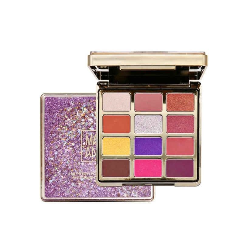 Quicksand  Eye Palette 12 Color Glitter