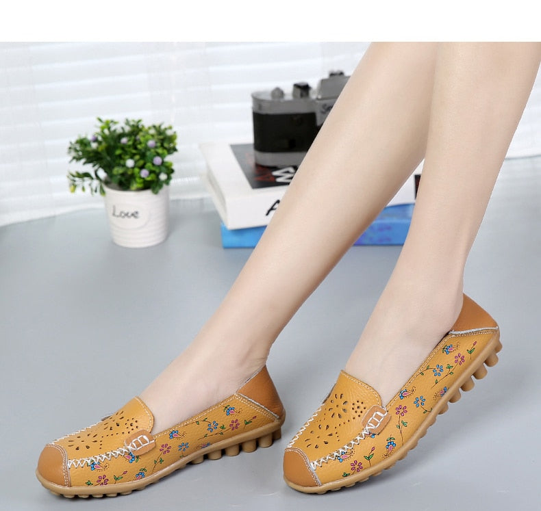 Soft Comfortable Female flat Casual colorful Shoes flowers