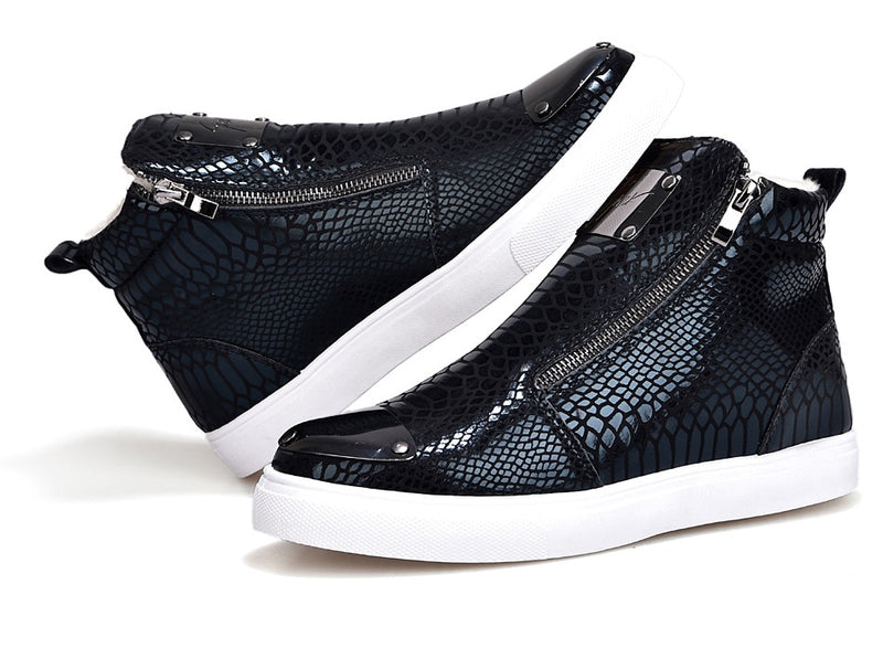 Textured fashion sneakers - Neshaí Fashion & More