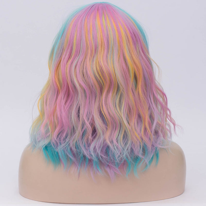 synthetic  Rainbow Bright wig