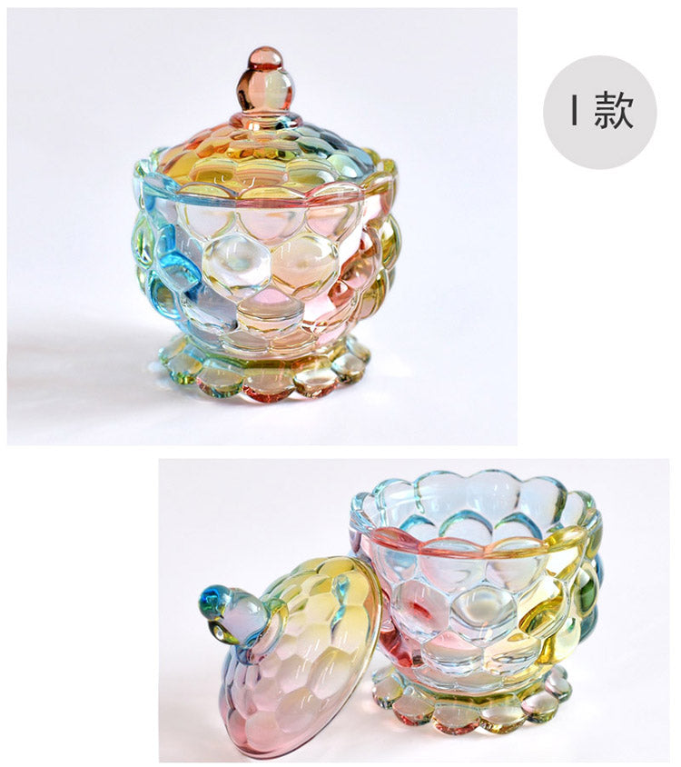 European style Colorful Glass Storage Box