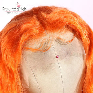 dark pink 13x6 Ombre Lace Front Wig Brazilian Remy Preplucked
