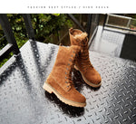 Lace-Up  furry boots - Neshaí Fashion & More