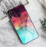 Tempered Glass Case For Samsung Galaxy A50 Feather Print Cover For Samsung Galaxy A30 A20 A10 A40 S9 A70 Phone Case S8S10