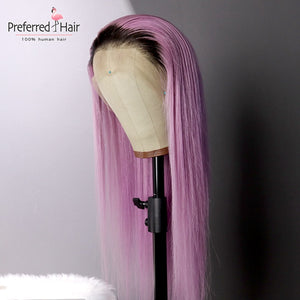 Ombre Pink Human Hair Wig