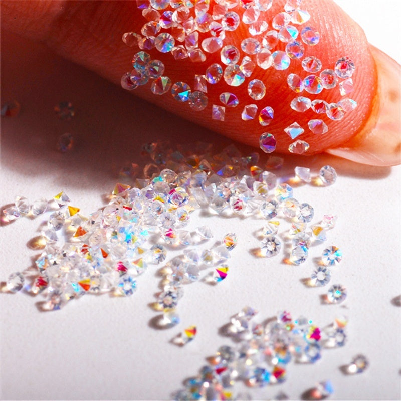Mixed Size Rhinestone Nail Decal