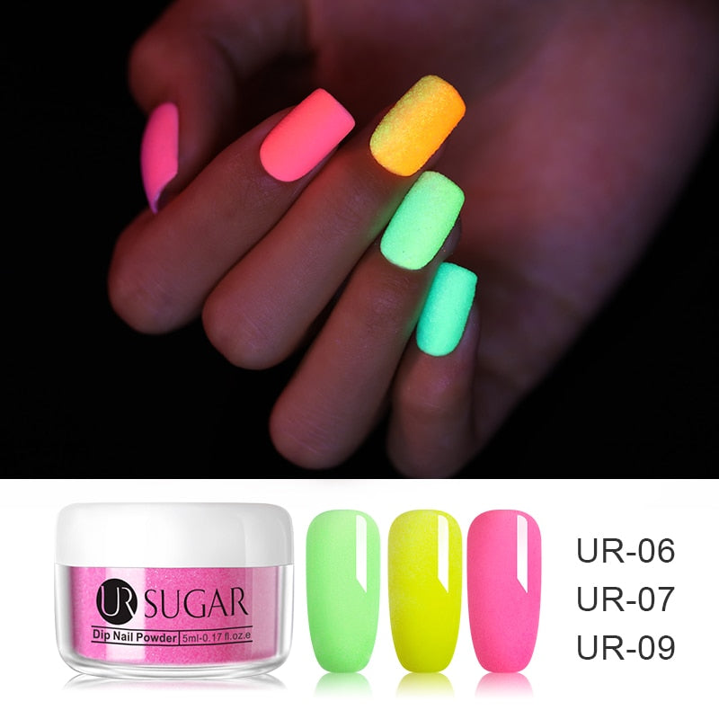 5ml Fluorescence Neon Dipping Nail Powder Glitter Dip