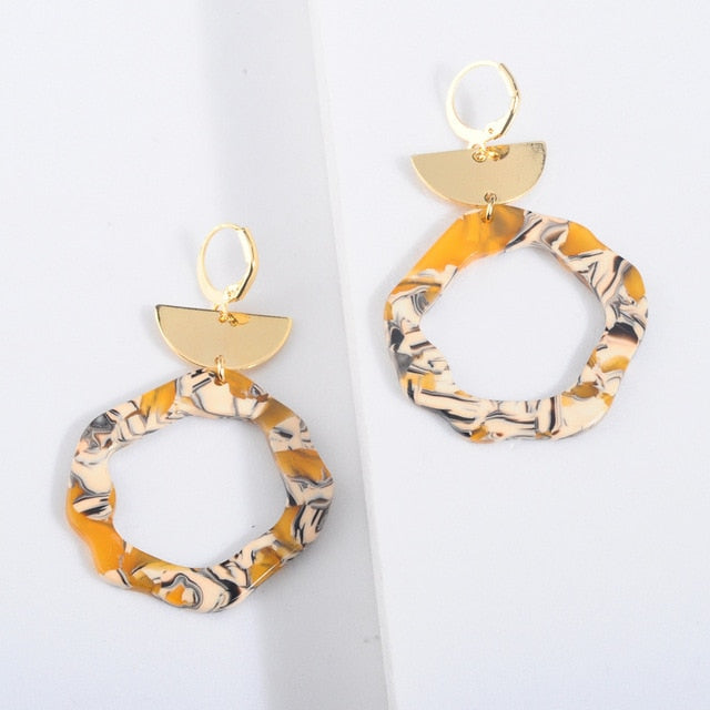 Acrylic Resin  Vintage Earrings - Neshaí Fashion & More