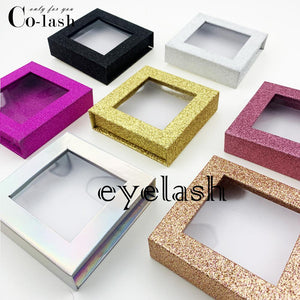 Packaging Box Custom your Logo Fake 3d Mink eyelashes Boxes Faux Cils lash strip Case Empty