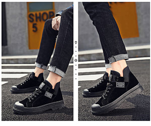 PU Leather Male Waterproof sneaker Boots