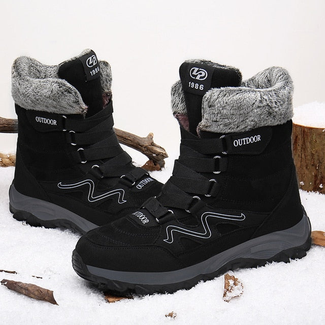 Warm Snow Boots Men Winter Boots Work Shoes