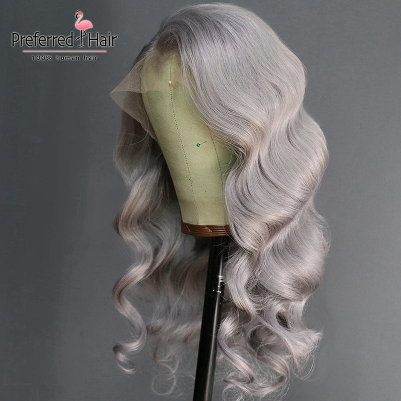 Loose Wave Wig With Baby Hair Preplucked Remy Brazilian Wig Glueless