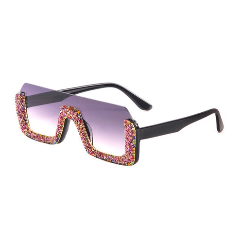 Rhinestone Retro Gradient Sun glasses