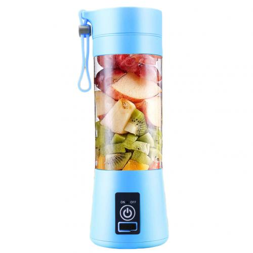 Portable Home USB Rechargeable 4-Blade Electric Fruit Extractor Juice Blender