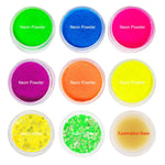 6-9 PC/set Neon Loose Powder