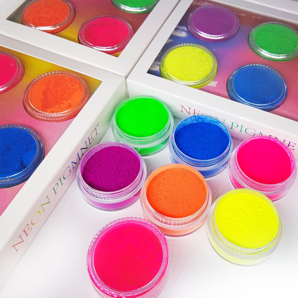 9 PC/set Neon Loose Powder