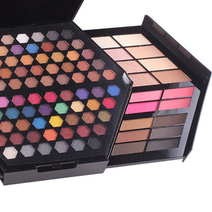 matte eyeshadow Powder Palette lip gloss blush brush makeup tools
