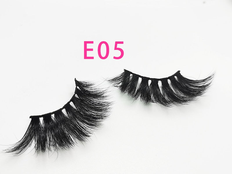30/50/100 Pairs 25mm Lashes Vip Momo Eyelashes 3D Mink Lashes Handmade Dramatic