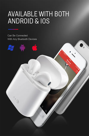 Bluetooth Earphones Earbuds Handsfree in ear Headset with Charging Box (colors)