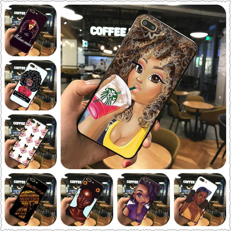 2bunz Melanin Poppin Aba phone Case For iphone 7 8 XS XR XSMAX 11 11Pro Case Cover