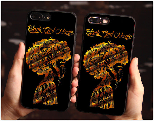2bunz Melanin Poppin Aba phone Case Pro Black case For Samsungs7 s8 s9 Case Cover