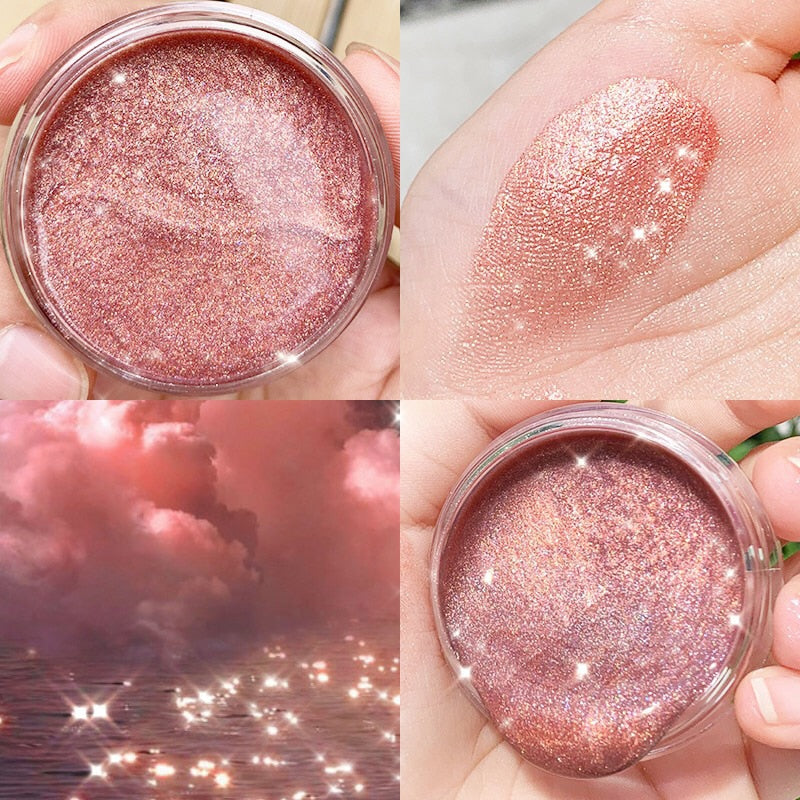 Glazed  Eye Shadow Metallic Sparkling Cream Powder