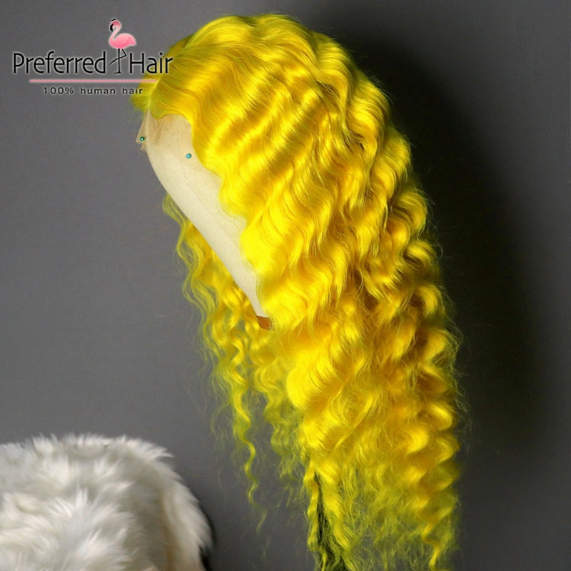 Water Wave Wig Brazilian Lace Front Human Hair Wig