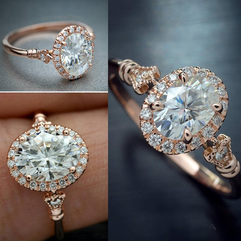 Cubic Zircon Micro Paved ring
