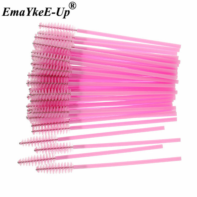 50pcs Women's Fashion Eyelashes Brushes Mascara Wands
