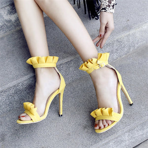 Pleated High Heels Sandals