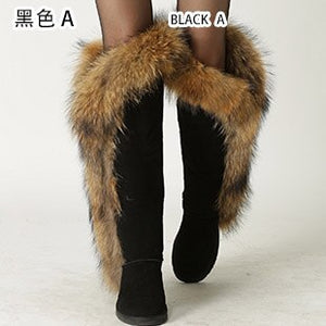 Over the Knee Long Winter Boots with fur